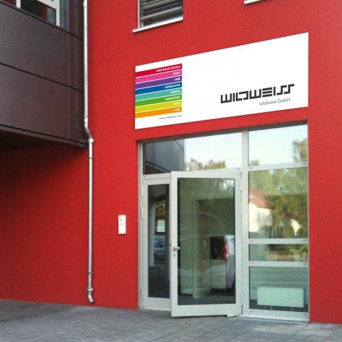 Eingang im Quartier A3 in Schwaig bei Nürnberg