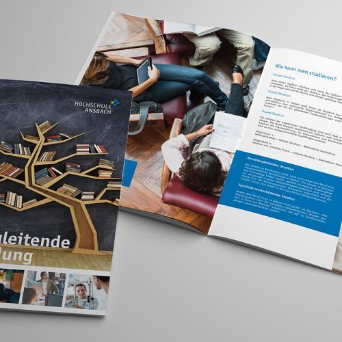 Printunterlagen und Designüberarbeitung für die SBT der Hochschule Ansbach