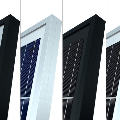 Solarmodule als 3D Modell in unterschiedlichen Farbvarianten