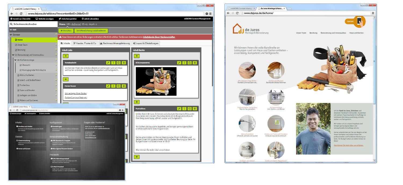 Unsere CMS-Eigenentwicklung wildCMS mit flexibler, intuitiv bedienbarer Oberfläche. Einen Demo-Zugang erhalten Sie gerne auf Anfrage!