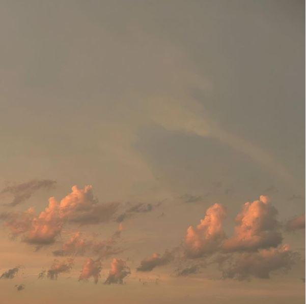 Sonnenuntergang nach einem Regentag