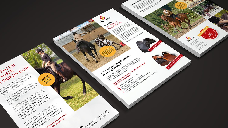 Diverse Flyer zu unterschiedlichen Themen für Iberosattel
