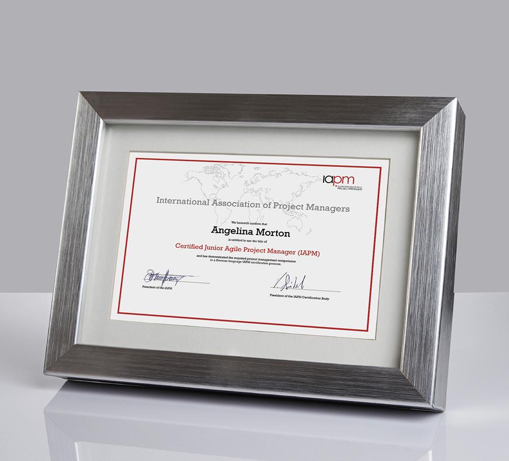 Gerahmte IAPM-Zertifikate als Premium-Produkt