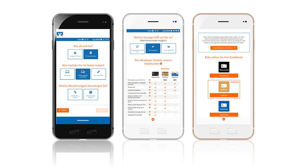 Natürlich sind alle Kontofinder responsive, das heißt für Mobilgeräte optimiert (wie hier für eine norddeutsche Volksbank)