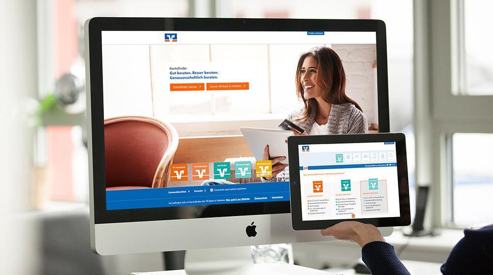 Kontofinder mit interaktivem AudioGuide für eine norddeutsche VR Bank