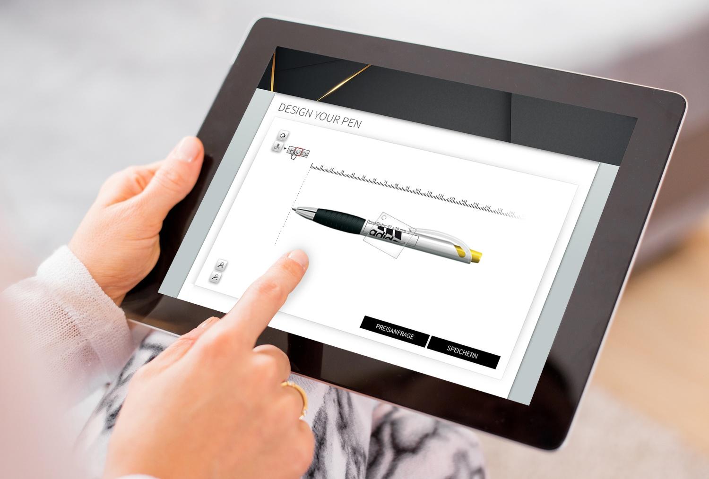 Stiftekonfigurator für einen großen Schreibwarenhersteller